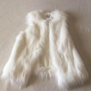 CAche Faux Fur Antique White Vest
